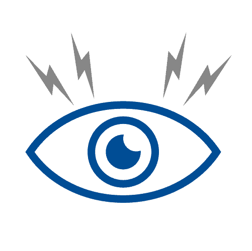 Eye discomfort icon