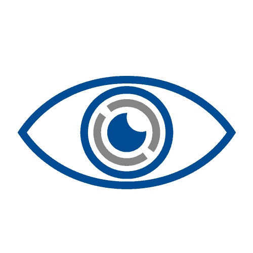 Intacs in eye icon