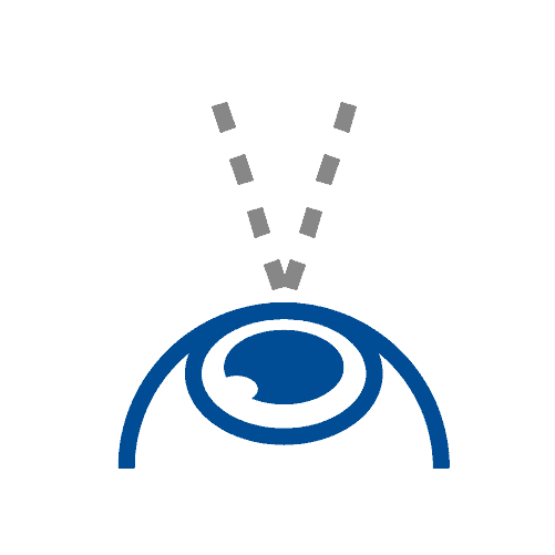 Peripheral vision loss icon