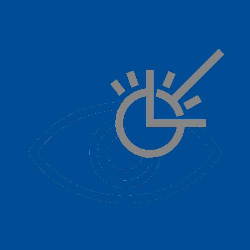 Eyes sensitive to light icon