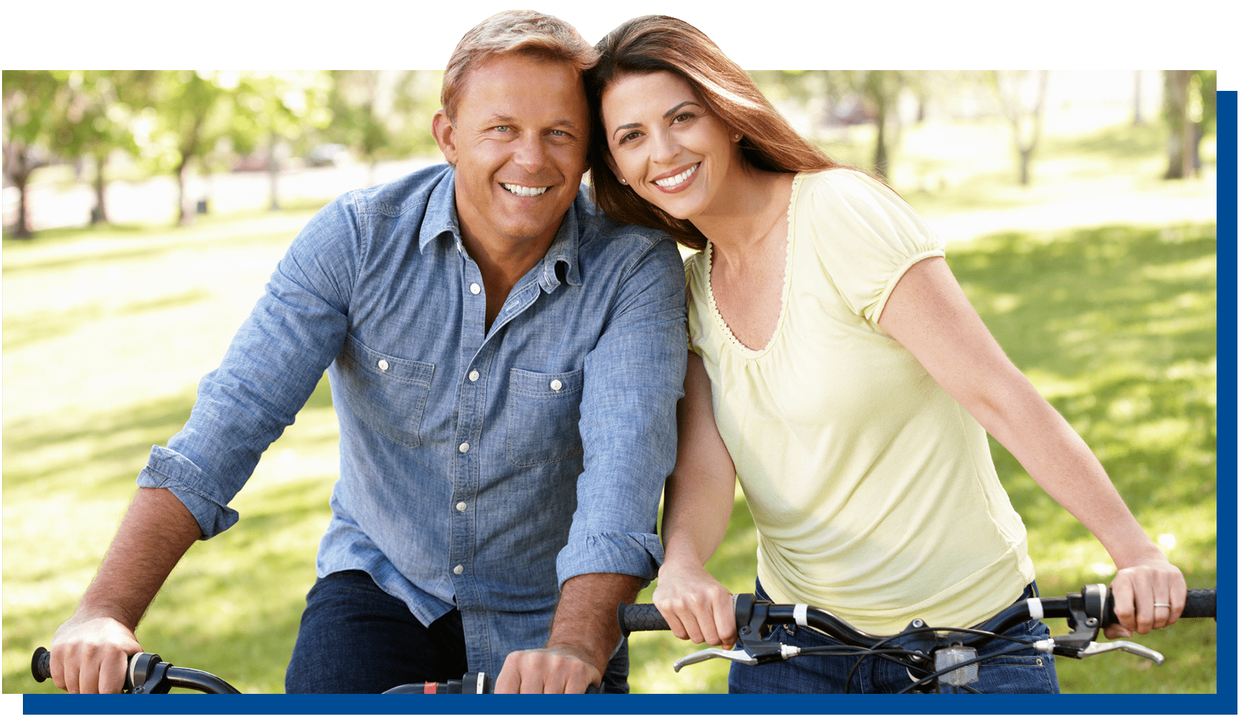 Couple on bikes together
