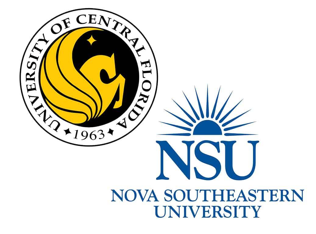 Nova Southeastern and UCF logos