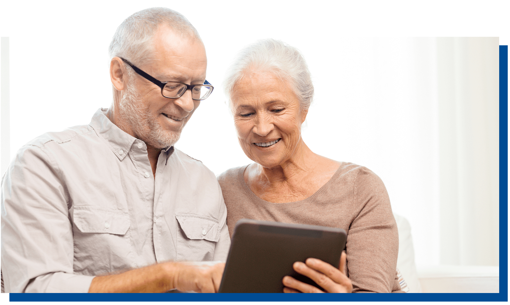 Couple using a Tablet