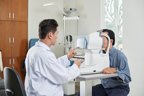 Checking for macular degeneration