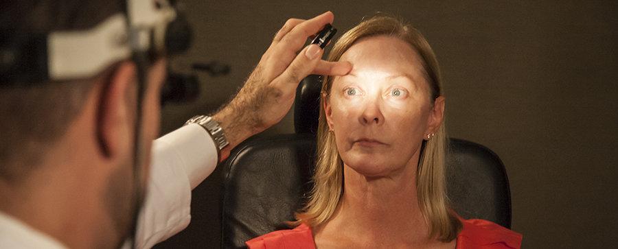 Eye exam by Dr. Tres